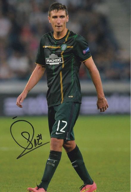 Stefan Scepovic, Glasgow Celtic, Serbia, signed 12x8 inch photo.